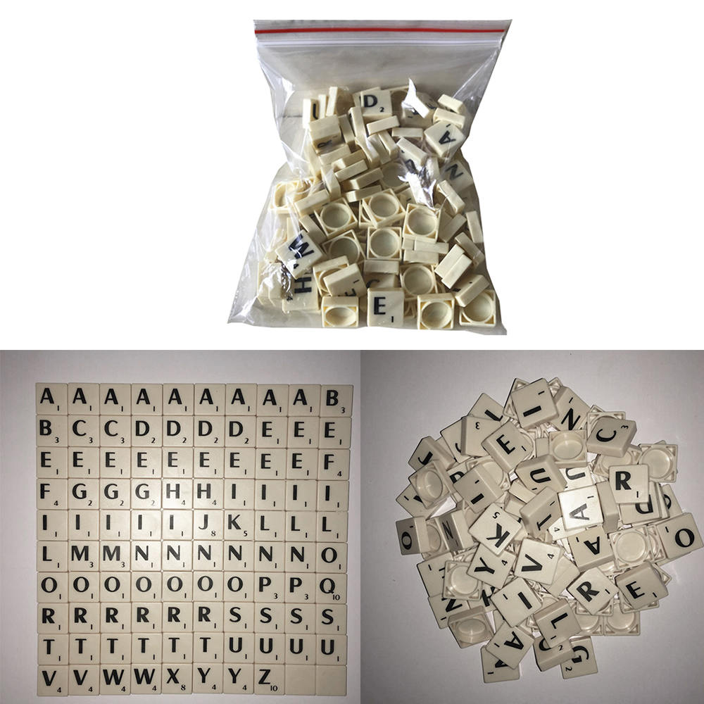 English Letter Set Word Scrapbooking Scrabble Number Alphabet Tile Plastic Letter Block Home DIY Crafting