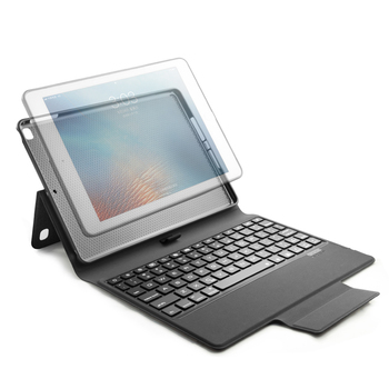 Bluetooth Keyboard  Case for new iPad 9.7 inch , Premium  Slim Leather Case Folio Cover -7 Color Backlit with pencil holder