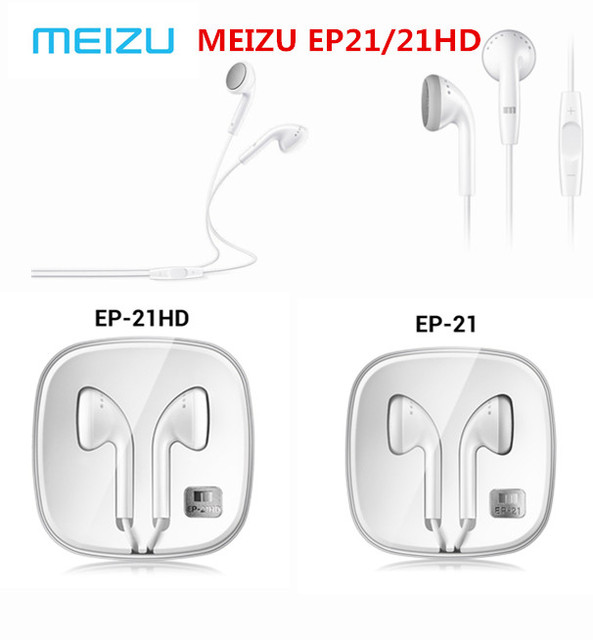 Original Meizu EP21 EP21HD Earphones Wired Earphone Stereo Headset In Ear Earbuds 3.5mm Jack with Microphone Volume Control