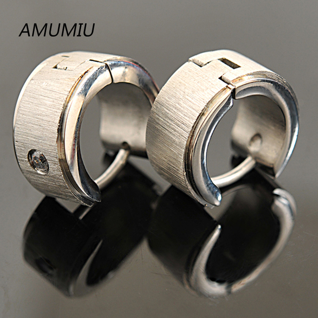 Hot Sale Punk Stainless Steel Men s Silver Stud Earrings Fashion Jewelry Women s Wholesale Free.jpg 640x640 - Hot Sale !! Punk Stainless Steel Men's Silver Stud Earrings Fashion Jewelry Women's Wholesale&Free shipping KE015