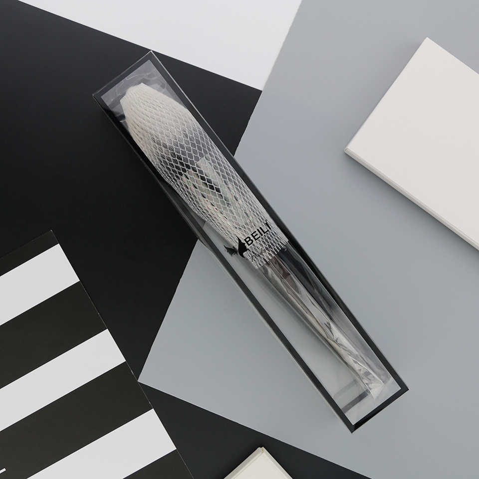 ביילי שחור גדול אבקת סומק מגדיר רך סינטטי שיער איפור מברשות קרן סימון מאוורר מברשת צלליות אכזריות משלוח