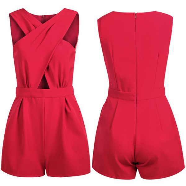 Chic Womens Casual V Neck Jumpsuit Rompers Solid 4 Colors Bodycon Playsuit Trousers