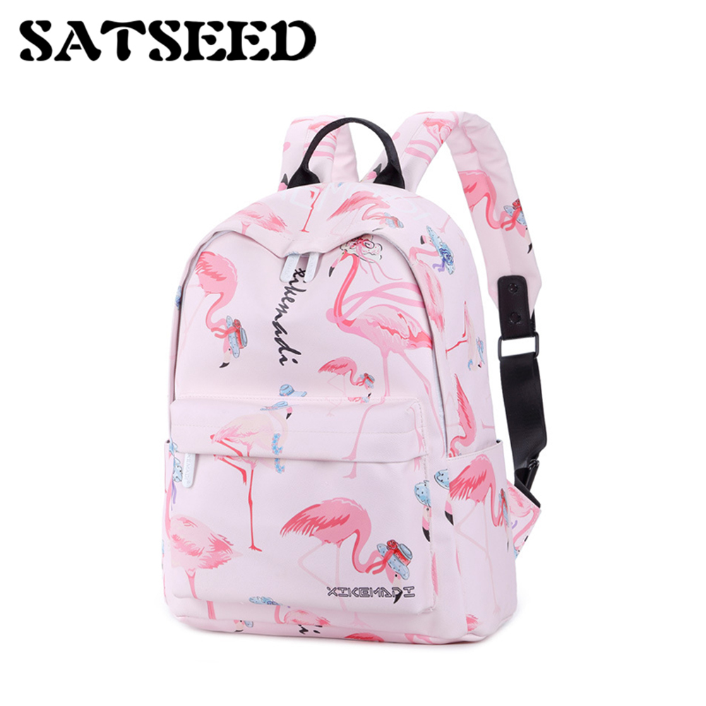 Women Bag Flamingo Stamp Backpack Female All-match Simple Small Travel Wind Bag Fashion New ca0633 canada 2014 mammal stamp all sheets 1ms new 0626