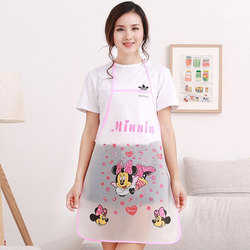 1pc Nette Cartoon Prinzessin Schürze Jingle Katze Mickey Halb Transparent Wasserdichte Schürze Küche Anti-Öl Ärmel Schürze