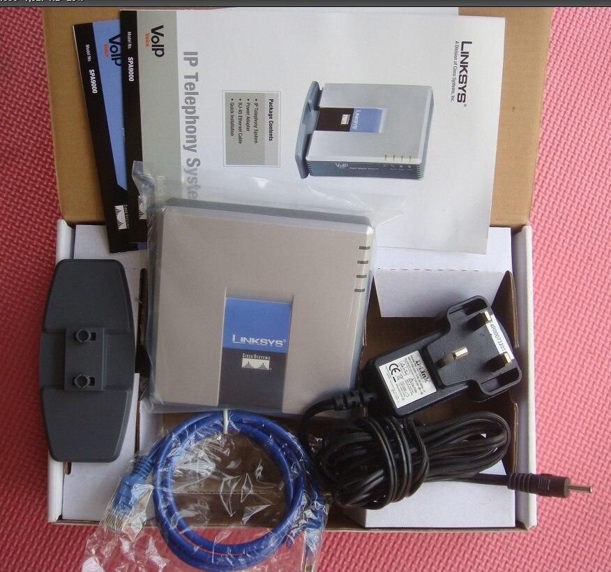 Marque Nouvelle Usine Débloqué Linksys PAP2-NA PAP2T PAP2T-Na ATA téléphone adaptateur SIP Adaptateur de Téléphone VOIP avec 2 FXS téléphone