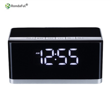 Wireless Bluetooth Speaker Big Power Subwoofer Speaker For Mobile Phone with TF LED Clock Alarm Clock Bluetooth Column