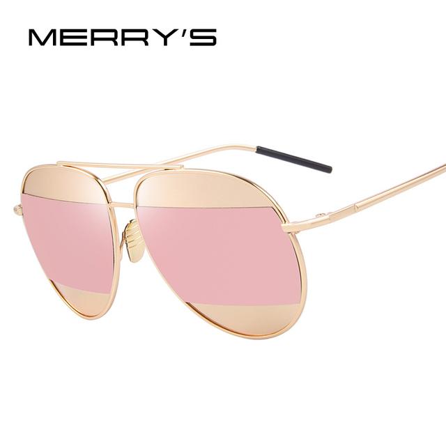 Merry's moda de las mujeres clásicas gafas de sol de diseñador de la marca shades gafas de sol del marco del metal de lujo s'8672