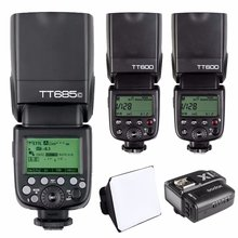 Godox TT685C HSS E-TTL II Вспышка Speedlite для Canon + 2x TT600 + X1T-C передатчик