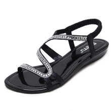 Gladiator Sandals Women 2019 New Crystal Women Sandals Flat Beach Shoes Flip Flop Ladies Sandals Woman Chaussures Femme hot women sandals 2018 flip flop mid calf flat heels sandals women fashion crystal rhinestone backle strap wedding sandals