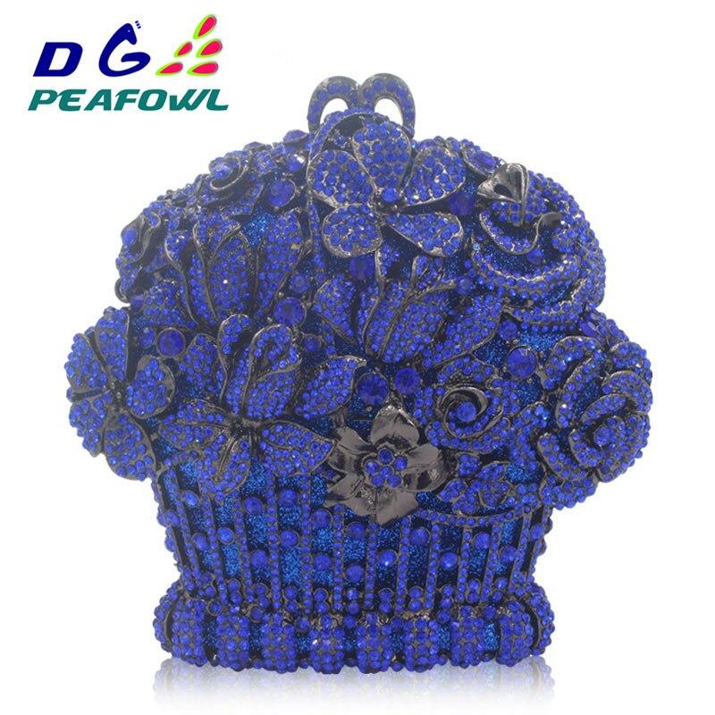 Creusent gold À Dame Main Clutch De Et Pour Fleurs Sac Dîner Dehors Femmes Luxe Bleu Sacs Forme Soirée Panier 2018 red Blue Diamant 8xZCnSYwq1