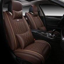 High-end кожа специальные чехлы сидений автомобиля для Volkswagen vw passat b5 6 поло Гольф 4 tiguan jetta t5 автомобильные аксессуары для укладки