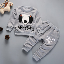 IENENS 2PC Children's Sets Kids Boy Cartoon Clothing Outfits Baby Toddler Infant Boys Clothes Suits Long Sleeves T-shirt + Pants