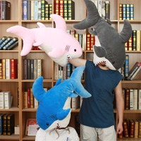 1pc 90cm Giant Creative Cartoon Shark Plush Toys Big Fish Doll Whale Simualtion Stuffed Plush Animal Doll Children Birthday Gift