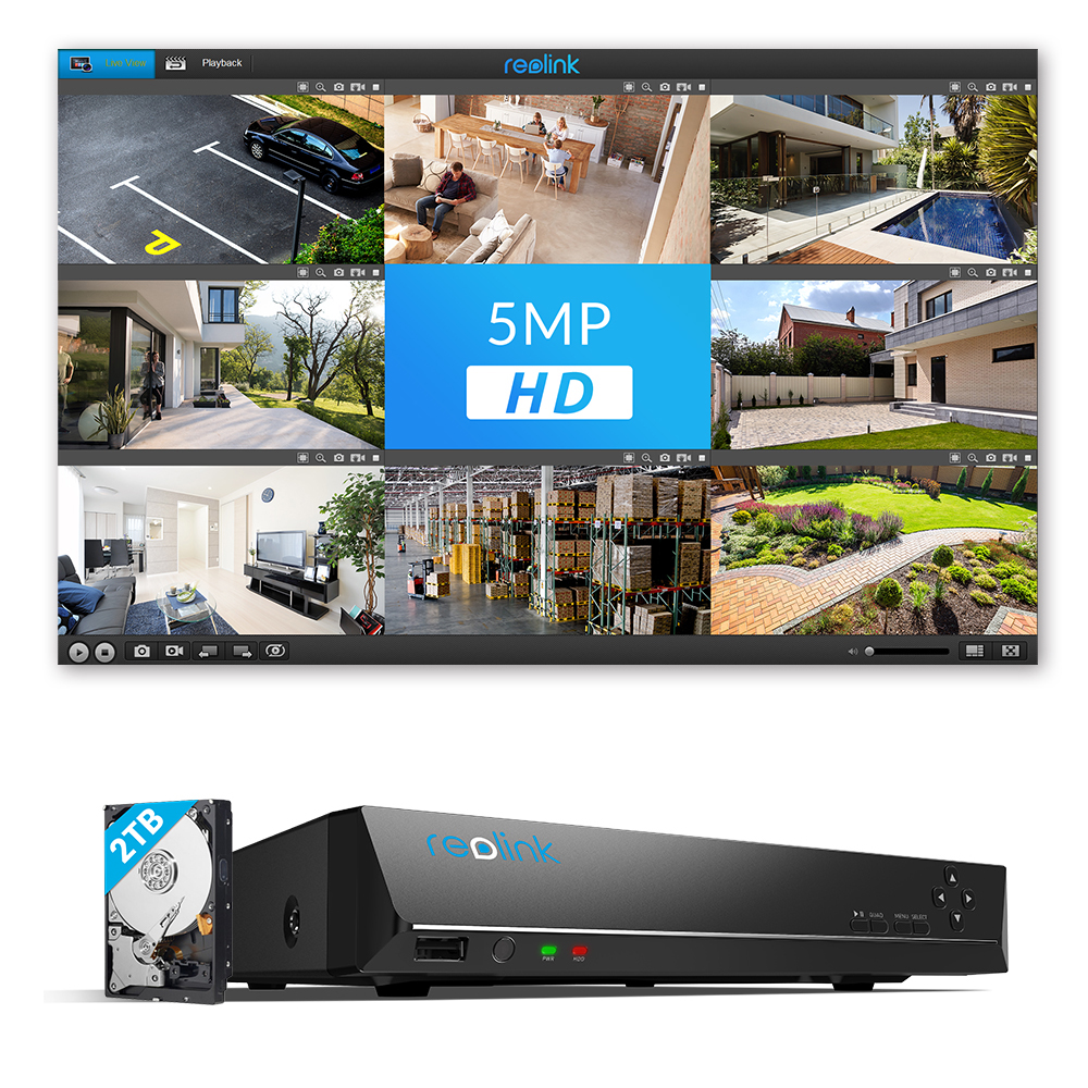 US $142 49 25% OFF Reolink NVR 8ch for Reolink 4MP/5MP ip camera P2P 24/7  recording H 264 Video Recorder RLN8 410-in Surveillance Video Recorder from