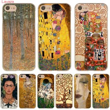 Lavaza the kiss Gustav Klimt Painting Hard Phone Case for Apple iPhone 6 6s 7 8 Plus 4 4S 5 5S SE 5C Cover for iPhone XS Max XR