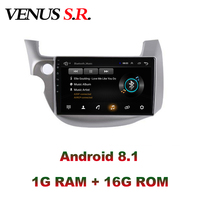 VenusSR Android 8.1 2.5D car dvd for Honda Fit Jazz 2008 2013 multimedia headunit GPS Radio stereo gps navigation