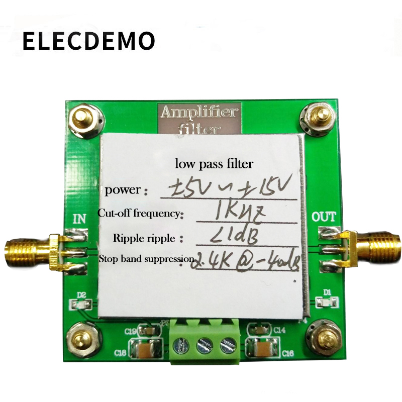 Low pass filter module 8th order filtering Cut off frequency 1KHz In band ripple less than 1dB Stopband rejection-in Demo Board Accessories from Computer & Office