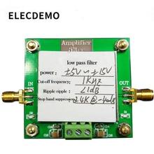 Модуль фильтра нижних частот Фильтрация 8-го порядка Частота среза 1 кГц Внутриполосная пульсация