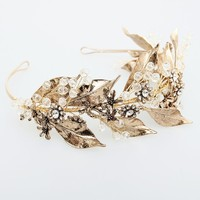 Vintage Gold Leaf Wedding Tiara Bridal Hair Crown Accessories Baroque Women Hair Jewelry Tiaras Handmade Headpiece