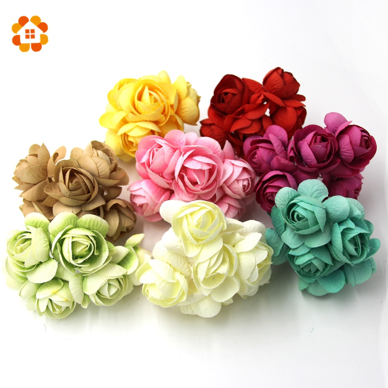 12pcs Diy Artificial Flower Artificial Flower Bouquet Spring