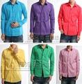 M-4XL ! Hot ! studio shirt Men's fashion shirt plus suze color fat King shirt stage singer costumes clothing