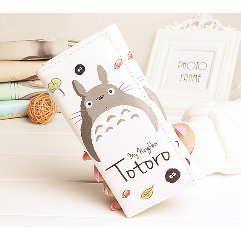 DUDINI Fashion Totoro Women PU Leather Wallets Cute Cartoon Design Momey Purse Ladies Simple Card Holder Coin Pocket Bag fabra women cute cartoon pu leather