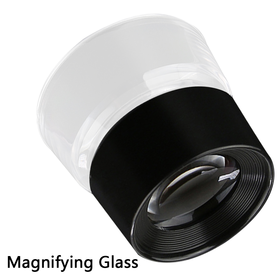 Portable Magnification 55x40mm 10X Magnifying Glass Magnifiers Microscope For Reading Jeweler Stamp Antique