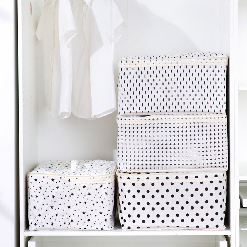 Waterproof Breathable Cotton Clothes Storage Bag Impermeabile Folding Portable Bags Organizer For Clothes Clothing Storage Bags in Storage Bags from Home Garden