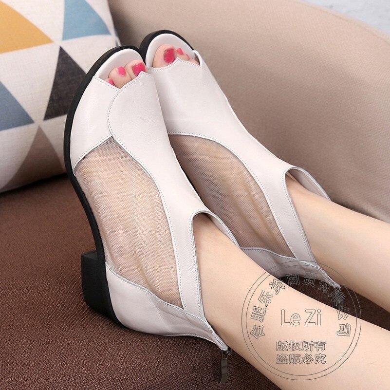 Plain Wearproof Pu font b Women b font Shoes 2015 Novelty Zip Full Grain Leather Womens