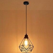 Геометрический подвесной металлический светильник в стиле ретро, винтажный подвесной светильник, абажур, железная клетка CLH@ 8