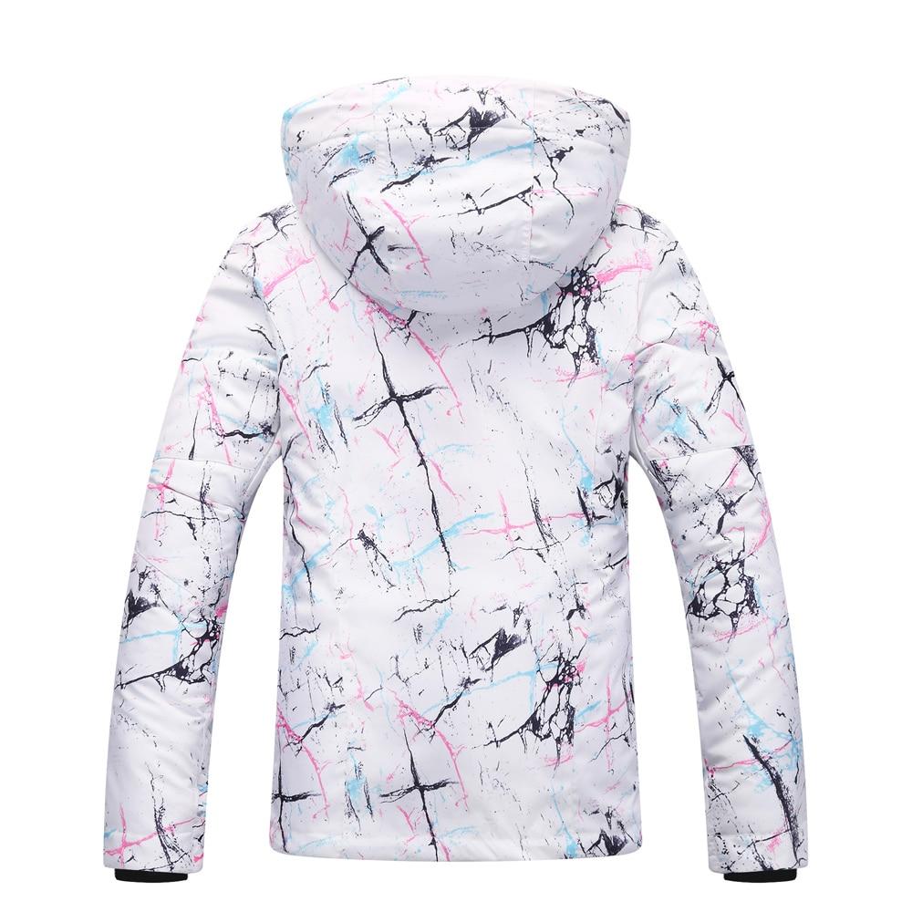 Veste de Ski femme marque 2018 nouveau coupe-vent imperméable manteau de neige chaude femme hiver Ski Snowboard veste Ski femmes - 2