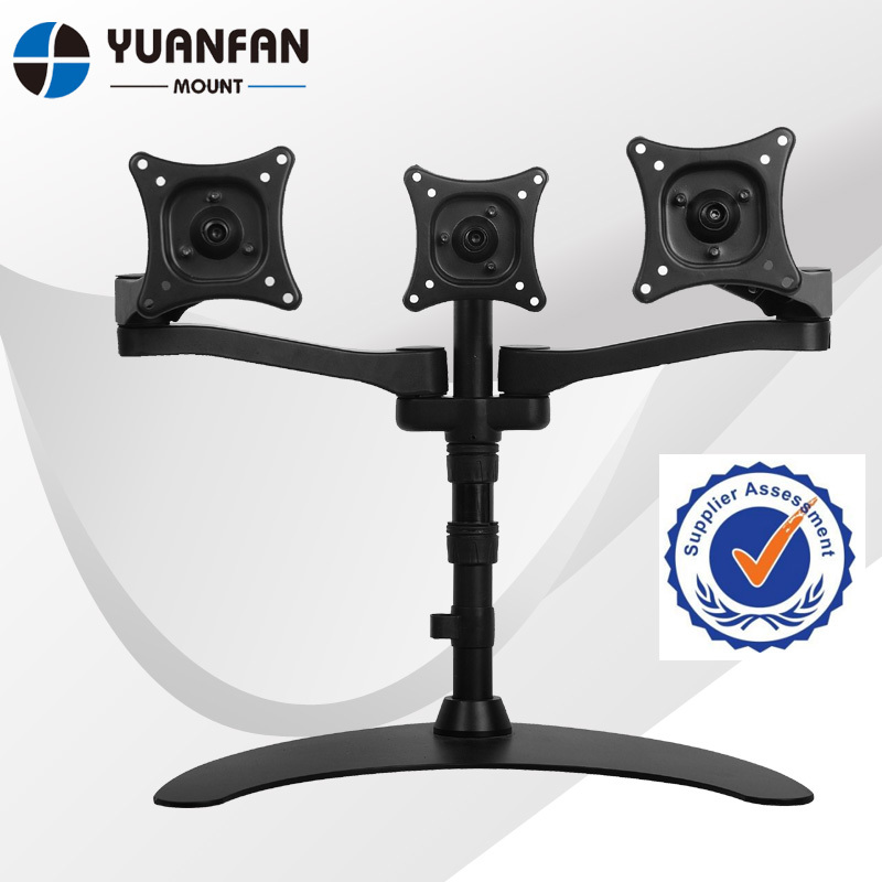 Triple Freestanding Monitor Stand for Widescreen Monitors Up to 24 (Quad) (3 Horizontal Monitor) freestanding houses