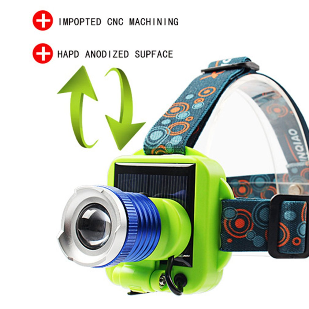ICOCO Portable LED Solar Charging Long-range Headlight Glare Rechargeable Flashlight Long-range Lamp Hunting Night Light Sale