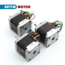 3pcs NEMA17 CNC stepper motor 48mm/ 78 Oz-in/1.8A stepping motor CNC 3D Makebot Printer/ Printing 17HS8401 from RATTM MOTOR(China)