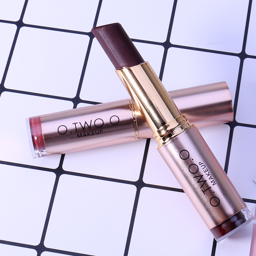 O.TWO.O Matte Lipstick Waterproof Lipstick Moisturizer Smooth Lip Stick Long Lasting Lip Gloss Cosmetic Beauty Makeup 20 Colors