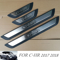 New Stainless Steel Door Sill Scuff Plates Fit For Toyota C HR CHR 2017 Car Door