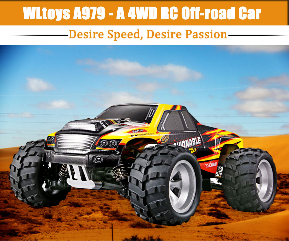 40KM/H 2016 NEW Wltoys A979 High speed 4WD off-Road Rc Monster Truck, Remote Control Car Toys RC Car Funny Outdoor Sport Toy