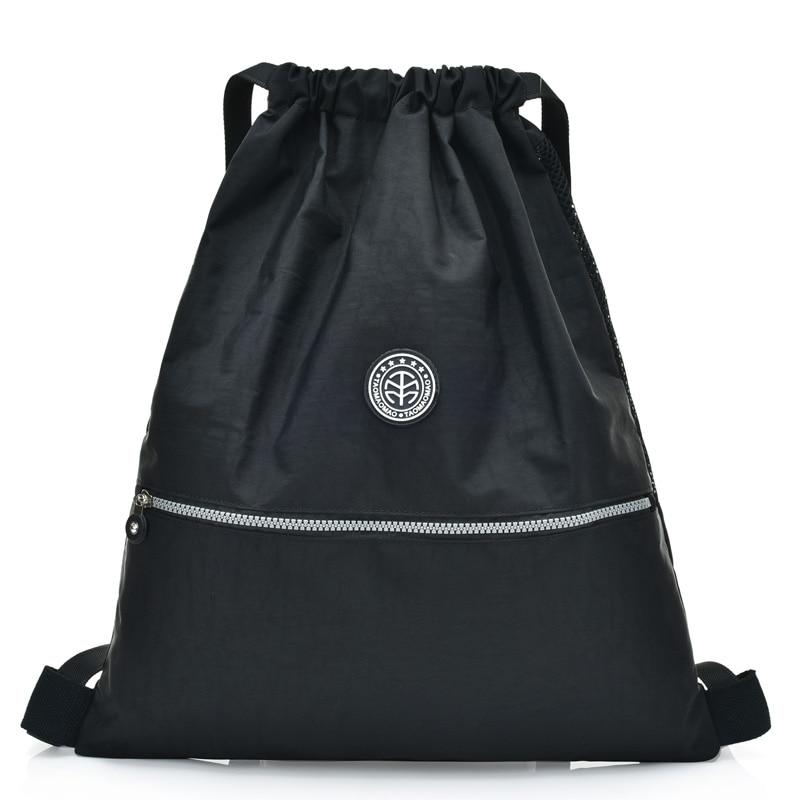 2019 School Drawstring Backpack For Teenage Girls Nylon Mochila Feminine Backpack Women Solid Famous Casual Female Bagpack