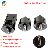 Red AUTO Headlight Switch Light Sensor Module Upgrade Chrome For Golf 4 J etta MK4 Passat B5 Polo Caddy Golf 6 GOLF 7 Tiguan