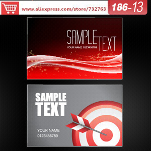 0186 13 Business Card Template For Paper Craft Supplies Business