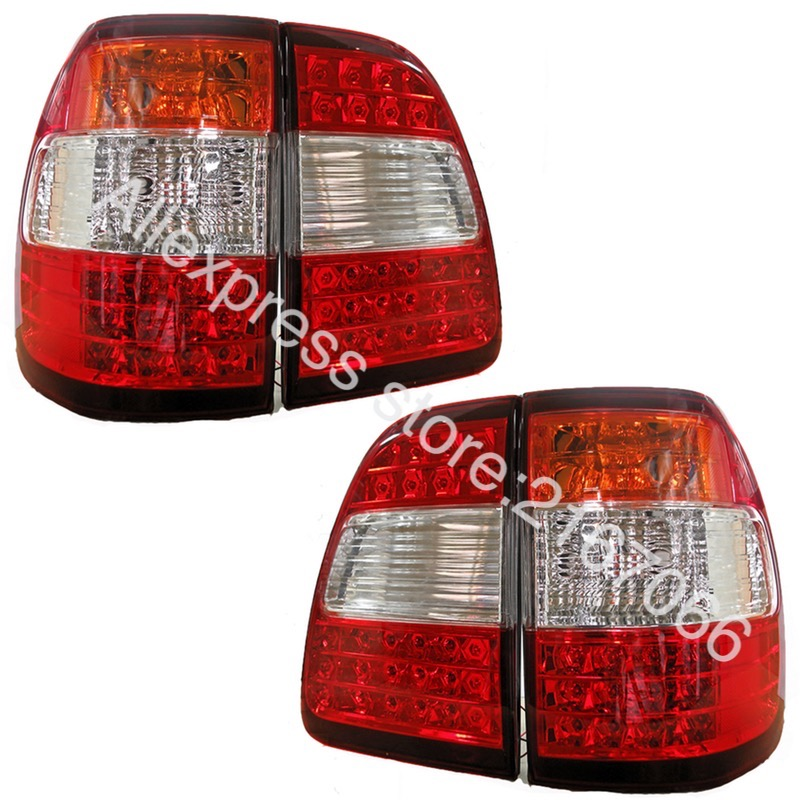 Tail Lights LED SET 4 pcs fits Toyota LAND CRUISER 100  2005 2006 2007 Rear Lamps LEFT & RIGHT + Tail lights Trunk Pair