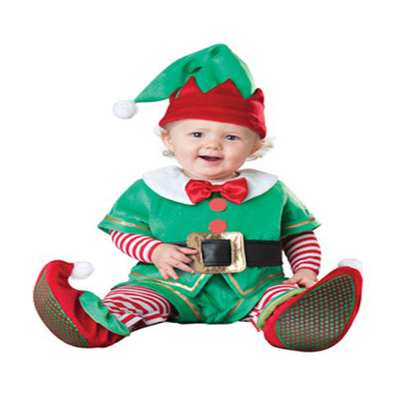 Baby Santa Lil' Elf Costume Infant Christmass Halloween Costume