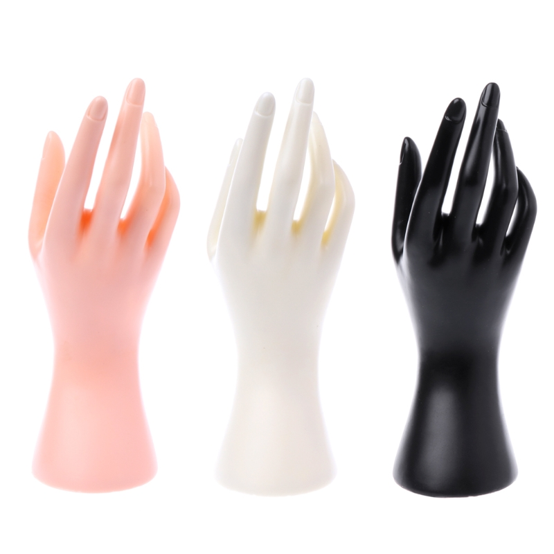 JAVRICK <font><b>Mannequin</b></font> <font><b>Hand</b></font> Finger Glove <font><b>Ring</b></font> <font><b>Bracelet</b></font> Bangle Jewelry Display Stand Holder image