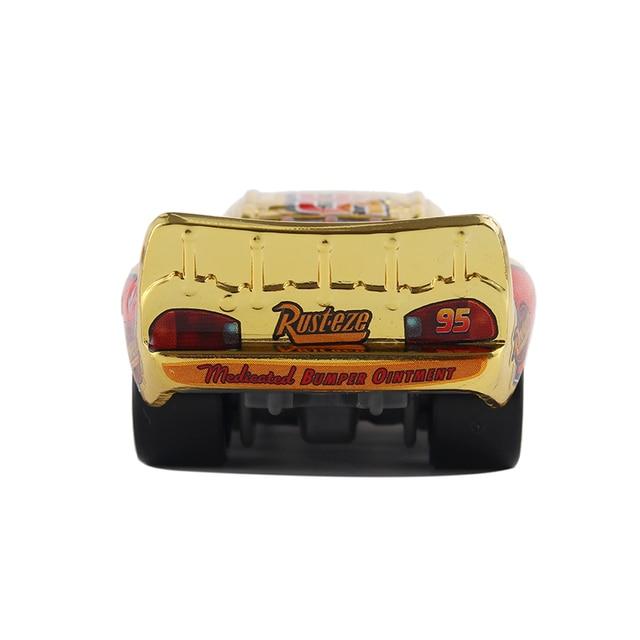 Cars 3 Disney Pixar Cars Metallic Finish Gold Chrome McQueen Metal Diecast Toy Car Lightning McQueen Children's Gift 4