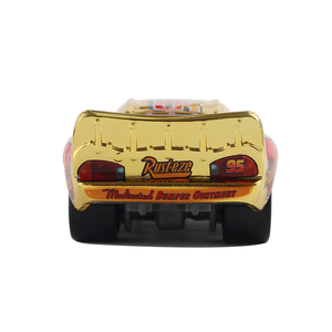 Image 4 - Brinquedo metálico dourado McQueen carros 3, presentes para crianças, mcqueen, espelhado, disney