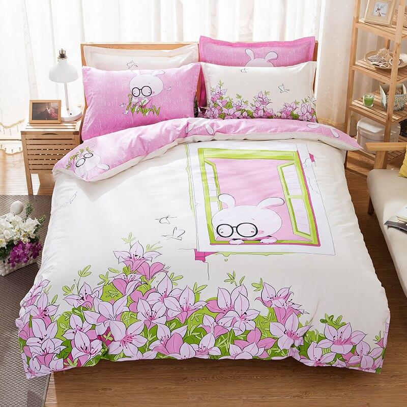 UNIHOME nouveau ensemble de literie 100% coton/linge de lit/literie/drap de lit ensemble couvre-lit/reine tutuhuayuan