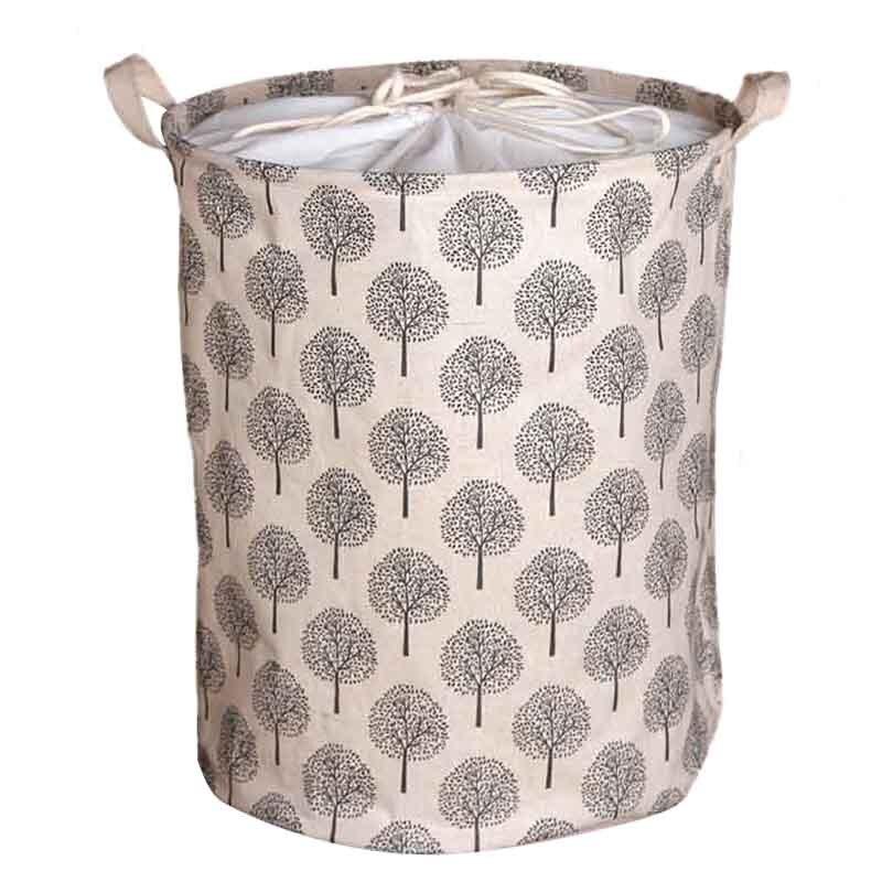 Large Bucket Drawstring Beam Port Dirty Clothes Laundry Basket Foldable Toys Storage Organizer Household Sundries Bag