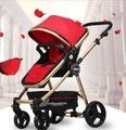 Baby stroller high landscape baby stroller ultra-light portable child children cart can be lying down can be folded