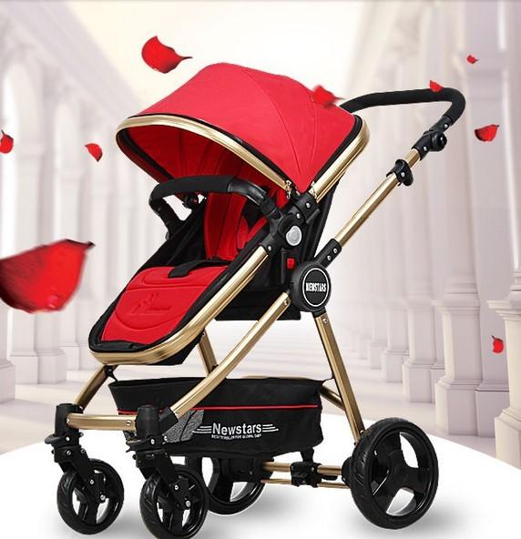 Carrinho de bebê de alta paisagem carrinho de bebê ultra-luz portátil crianças carrinho de criança pode ser deitado pode ser dobrado