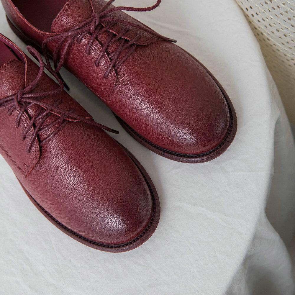 Hecho Oveja Vintage Estilo white Mujeres Mano Planos Británico Oxford Las winered Negro Genuino Zapatos Black A Para Cuero Aiweiyi De EqOaf